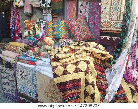 Some clothes in the Hippy Market of Las Dalias, Ibiza