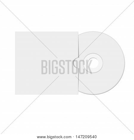 Vector illustration of Dvd or cd video disc. Outline in white background.