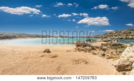 White Lake in Crete island, Greece. Aspri Limni is a lake and a beach near Elafonissi poster