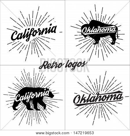 Collection of vector retro t-shirt logos. Sport vector Graphics and typography t-shirt design for apparel.