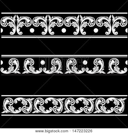 Vintage borders, baroque borders, scroll borders, ornament  borders, engraving borders, floral borders, retro pattern borders, antique borders, foliage borders, swirl borders. decorative borders. vector