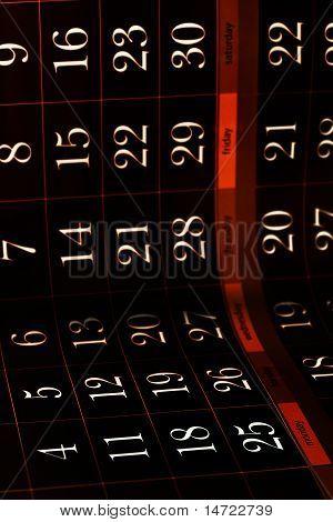 grungy dark calendar background