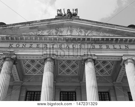 Konzerthaus Berlin In Berlin In Black And White