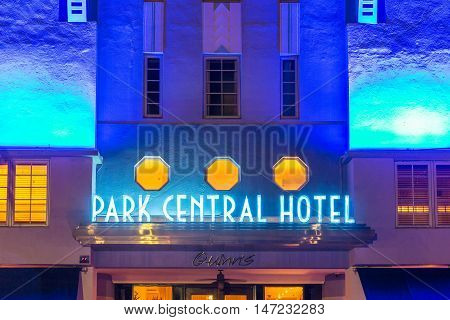 Park Central Hotel At Ocean Drive In Miami Beach