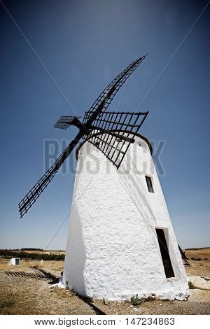 Windmills in Campo de Criptana, Ciudad Real Province, Castilla La Mancha, Spain.
