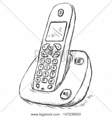 Vector Sketch Cordless Phone