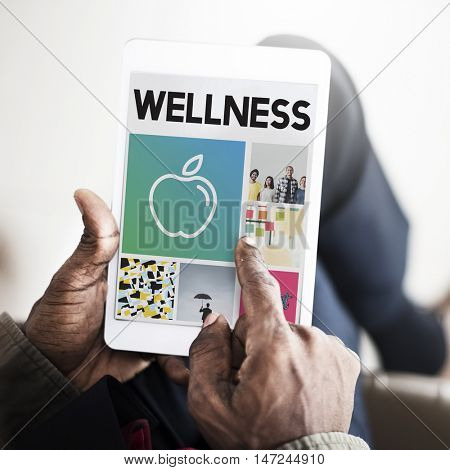 Apple Nutrition Healthcare Wellbeing Browsing Concept poster