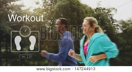 Weight Control BMI Wellbeing Lifestyle Concept poster