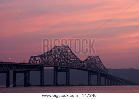 Tappan Zee Bridge During Sunset