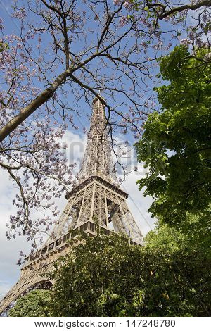 Save Download Preview Magical and romantic Eiffel tower of Paris,EUROPA,France,european attraction.