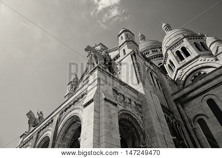 PARIS, FRANCE - Basilica of the Sacred Heart of Jesus.
