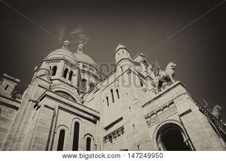 PARIS, FRANCE - Basilica of the Sacred Heart of Jesus.