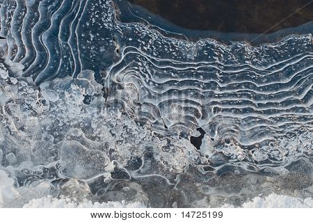 Ice On The River In Winter