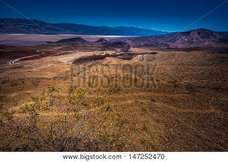 Death Valley Landscape From Father Clowley Point