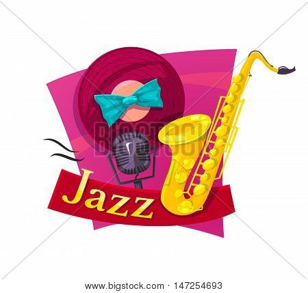 The musical style of jazz, concept design, vector illustration
