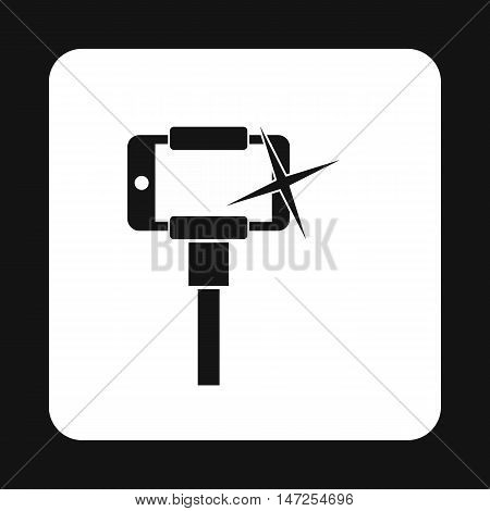 Selfie monopod stick icon in simple style on a white background vector illustration