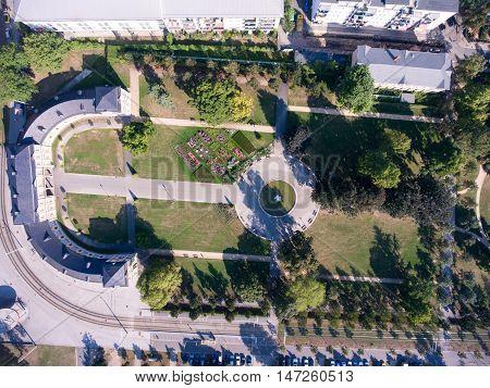 Gera Orangerie Summer Aerial View Architecture