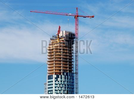 Skyscraper Construction Crane
