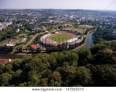 Gera Aerial View Stadion Football Soccer Sport