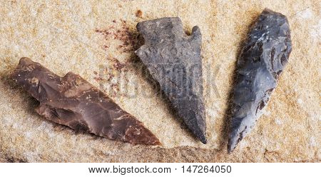 Real American Indian arrowheads found in Dripping Springs Texas.