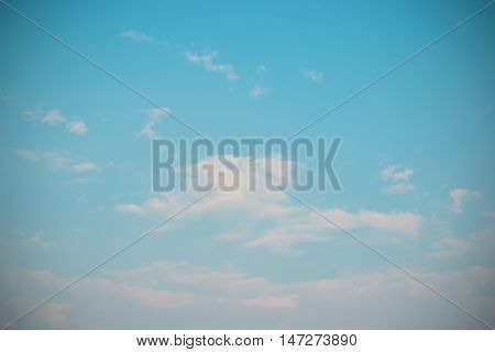 abstract natural soft clouds pattern and blue sky at evening (vintage background)