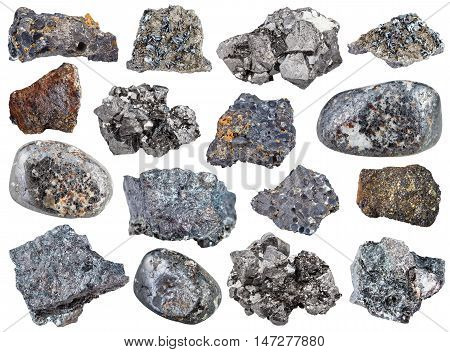 Collection From Specimens Of Magnetite Ore
