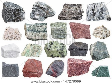 Collection Of Metamorphic Rock Specimens