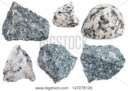 Collection From Specimens Of Diorite Rock