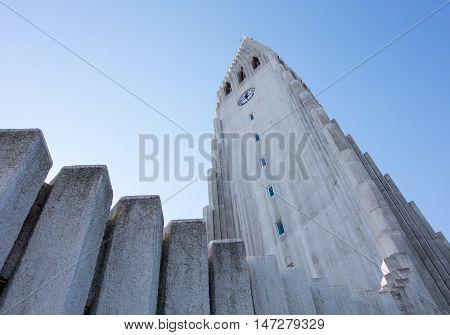 Hallgrimskirkja cathedral in reykjavik iceland - Concrete building
