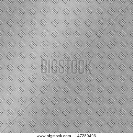 2D silver stainless steel texture treadplate illustration