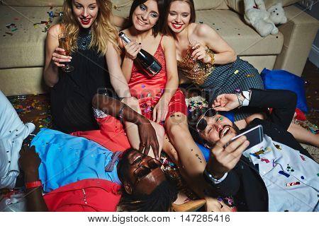 Selfie of posh friends