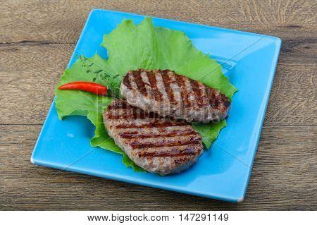 Grilled Burget Cutlet