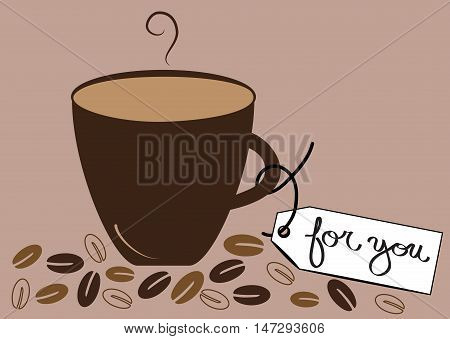Hot Coffee Mocha Latte For You in Mug