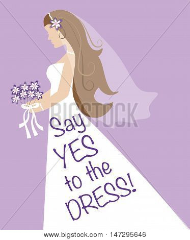 Say Yes to the Dress Bride with Bouquet