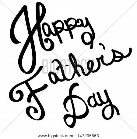 Black Happy Father's Day Lettering in Black