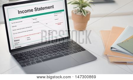 Income Statement Employment Assessment Balance Concept