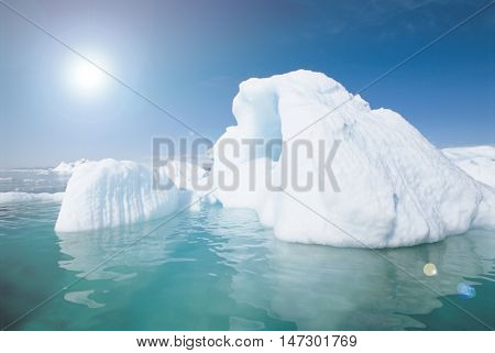 Iceberg and global warming