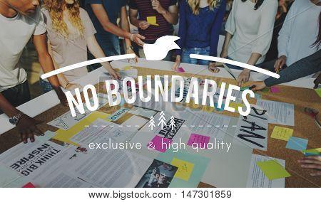 No Boundaries Global Business World Economics Concept