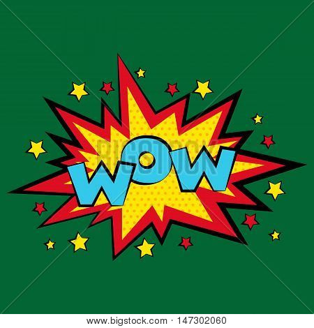 Comic sound effects in pop art vector style. Sound bubble speech with word and comic cartoon expression sounds illustration.