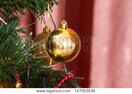 Glass Beads For Decorating The Christmas Tree