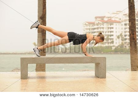 Pilates Exercise In Park