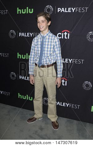 LOS ANGELES - SEP 10:  Daniel DiMaggio at the PaleyFest 2016 Fall TV Preview - ABC at the Paley Center For Media on September 10, 2016 in Beverly Hills, CA