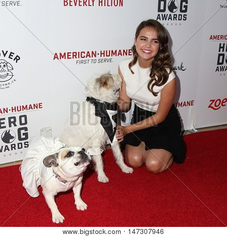 LOS ANGELES - SEP 10:  Bailee Madison at the 2016 American Humane Hero Dog Awards at the Beverly Hilton Hotel on September 10, 2016 in Beverly Hills, CA