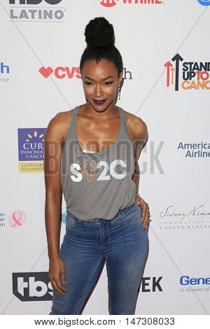 LOS ANGELES - SEP 9:  Sonequa Martin-Green at the 5th Biennial Stand Up To Cancer at the Walt Disney Concert Hall on September 9, 2016 in Los Angeles, CA