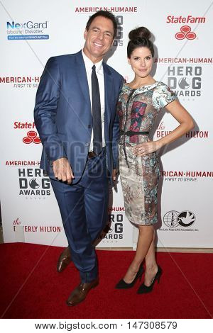 LOS ANGELES - SEP 10:  Mark Steines, Julie Freyermuth at the 2016 American Humane Hero Dog Awards at the Beverly Hilton Hotel on September 10, 2016 in Beverly Hills, CA