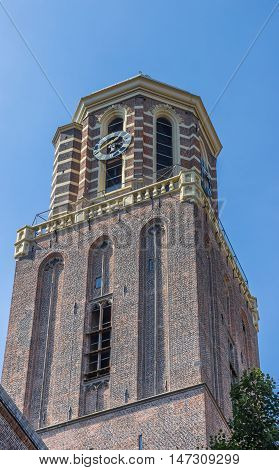 Church Tower In The Historical Center Of Zwolle