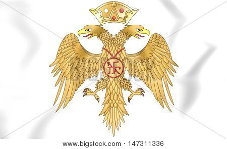 Palaiologos Dynasty Coat Of Arms. 3D Illustration.