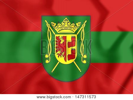 Flag Of Wittmund City (lower Saxony), Germany. 3D Illustration.