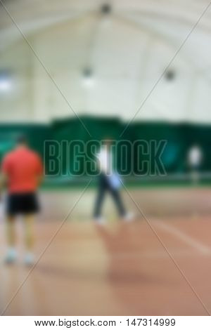 Tennis workout training theme creative abstract blur background with bokeh effect