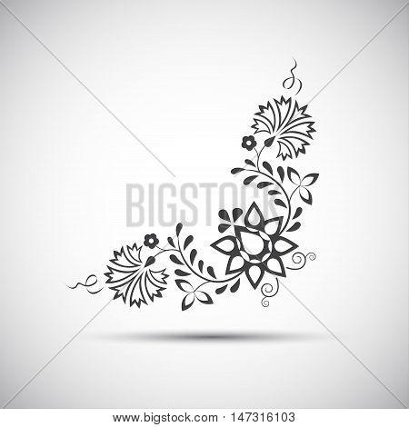 Traditional folk ornament vector illustration of simple folk symbol